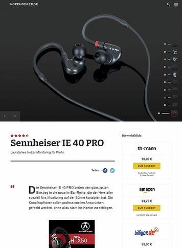 Kopfhoerer.de Sennheiser IE 40 Pro Black