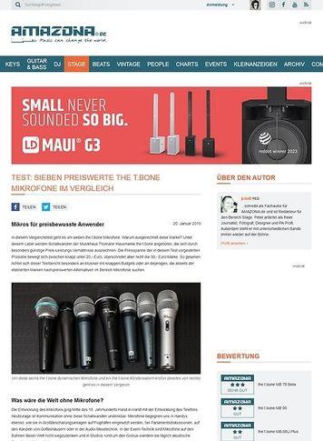 Amazona.de Sieben preiswerte the t.bone Mikrofone im Vergleich