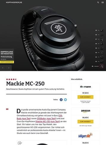 Kopfhoerer.de Mackie MC-250