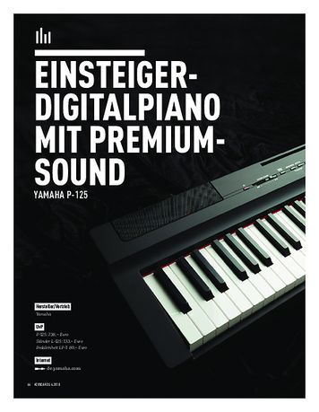 Keyboards YAMAHA P-125