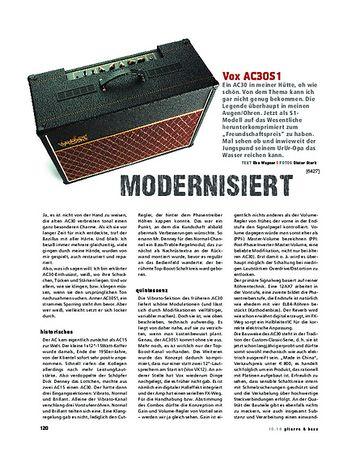 Gitarre & Bass Vox AC30S1