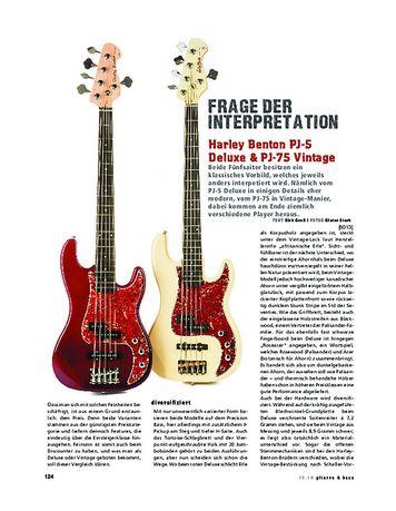 Gitarre & Bass Harley Benton PJ-5 Deluxe & PJ-75 Vintage
