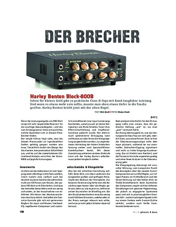 Gitarre & Bass Harley Benton Block-800B