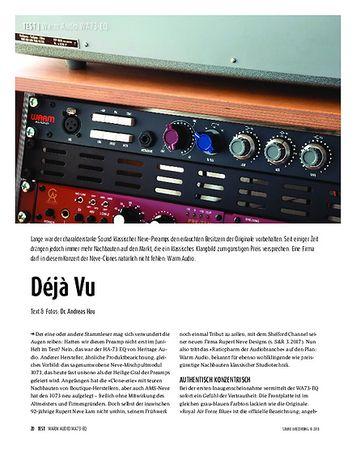 Sound & Recording Warm Audio WA73-EQ - Preamp-Clone