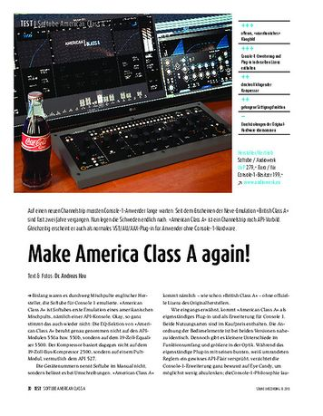 Sound & Recording Softube American Class A - Software-Channelstrip