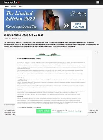 Bonedo.de Walrus Audio Deep Six V3