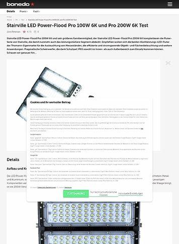 Bonedo.de Stairville LED Power-Flood Pro 100W 6K und Pro 200W 6K