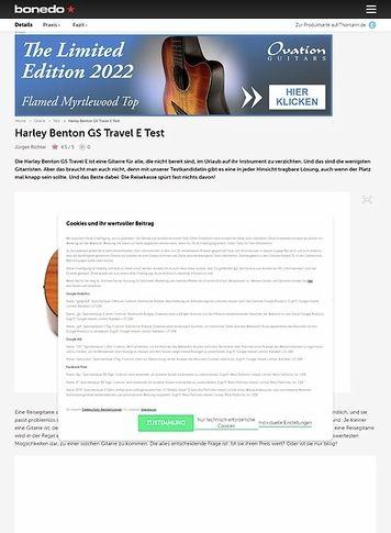 Bonedo.de Harley Benton GS Travel E