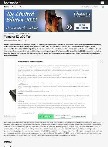Bonedo.de Yamaha EZ-220