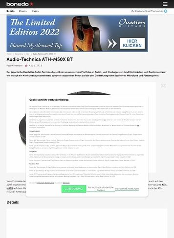 Bonedo.de Audio-Technica ATH-M50xBT