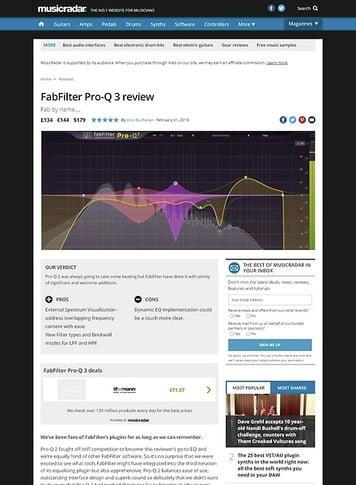 MusicRadar.com FabFilter Pro-Q 3