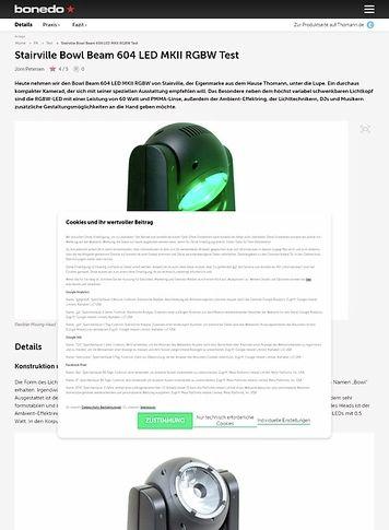 Bonedo.de Stairville Bowl Beam 604 LED MKII RGBW