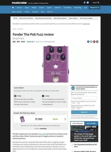 MusicRadar.com Fender The Pelt Fuzz
