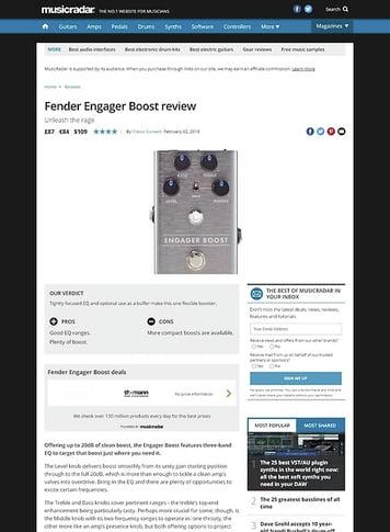 MusicRadar.com Fender Engager Boost