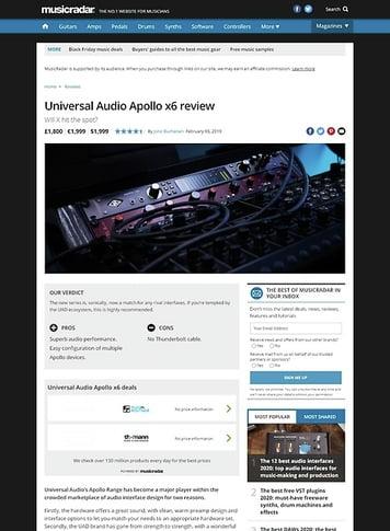 MusicRadar.com Universal Audio Apollo x6