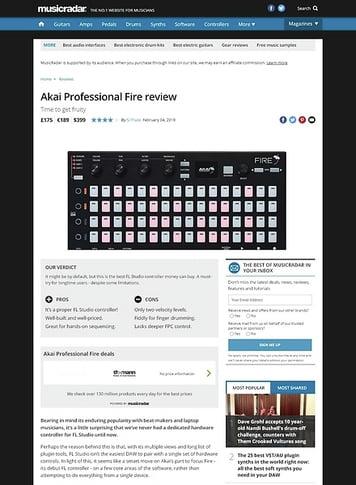 MusicRadar.com Akai Professional Fire