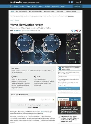 MusicRadar.com Waves Flow Motion