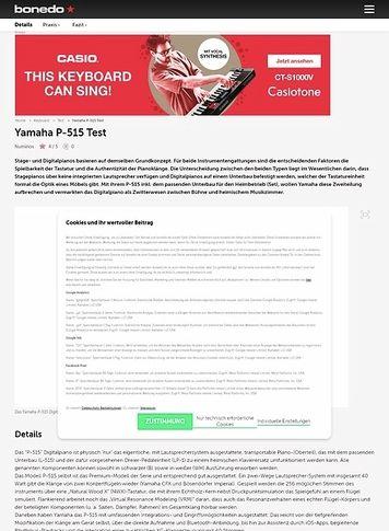 Bonedo.de Yamaha P-515