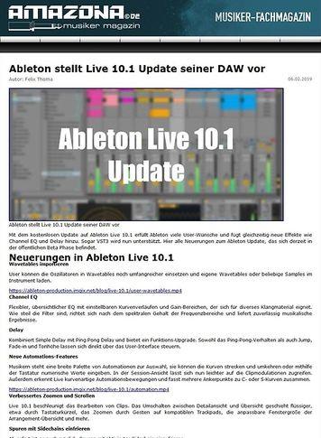 Amazona.de Ableton Live 10.1 Update