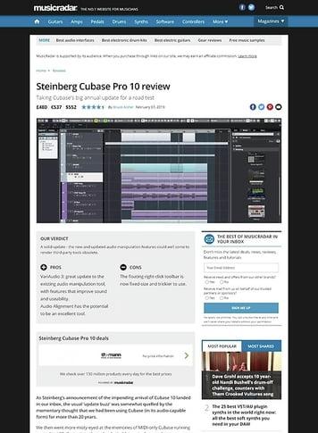 MusicRadar.com Steinberg Cubase Pro 10