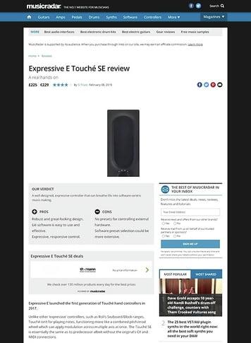 MusicRadar.com Expressive E Touché SE