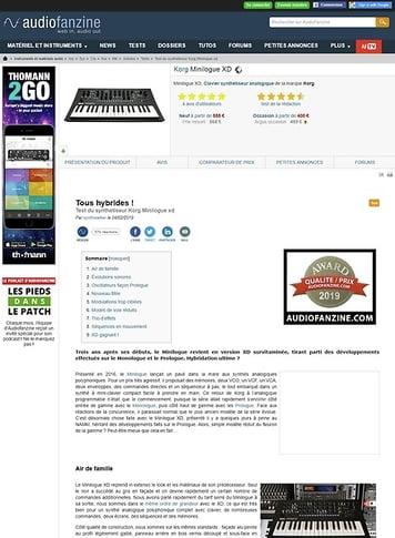 Audiofanzine.com Korg Minilogue XD