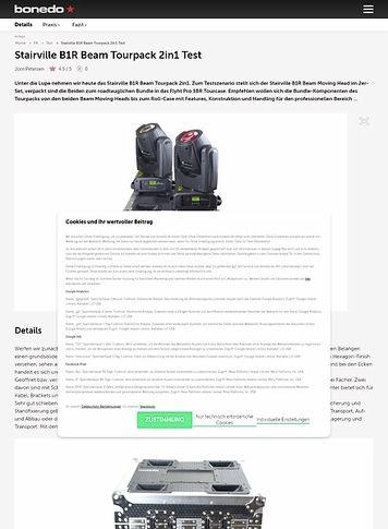 Bonedo.de Stairville B1R Beam Tourpack 2in1