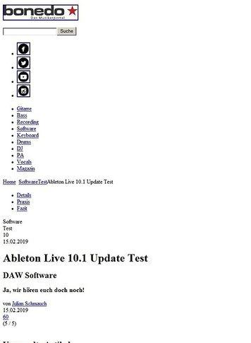 Bonedo.de Ableton Live 10.1 Update