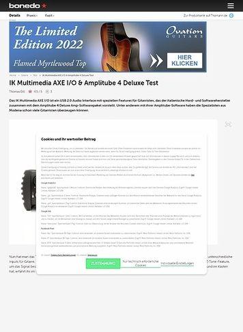 Bonedo.de IK Multimedia AXE I/O & Amplitube 4 Deluxe