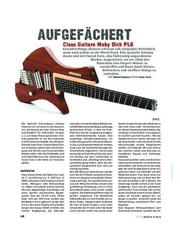 Gitarre & Bass Claas Guitars Moby Dick PL6