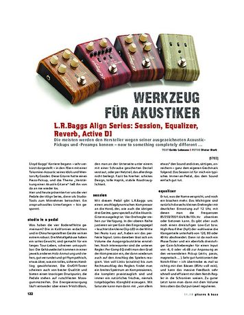 Gitarre & Bass L.R.Baggs Align Series: Session, Equalizer, Reverb, Active DI