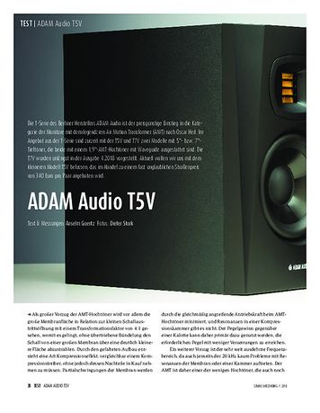 Sound & Recording ADAM Audio T5V