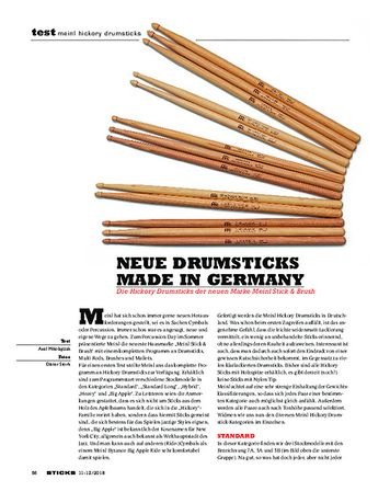 Sticks Meinl Hickory Drumsticks