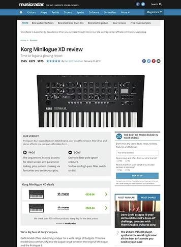 MusicRadar.com Korg Minilogue XD