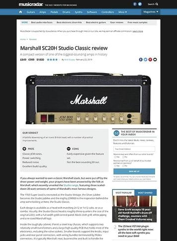 MusicRadar.com Marshall SC20H Studio Classic