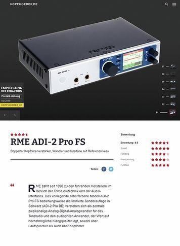 Kopfhoerer.de RME ADI-2 Pro FS