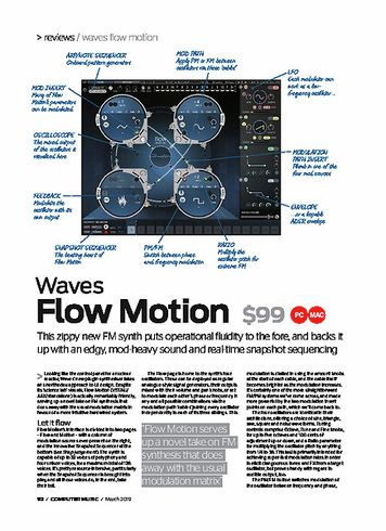 Computer Music Waves Flow Motion
