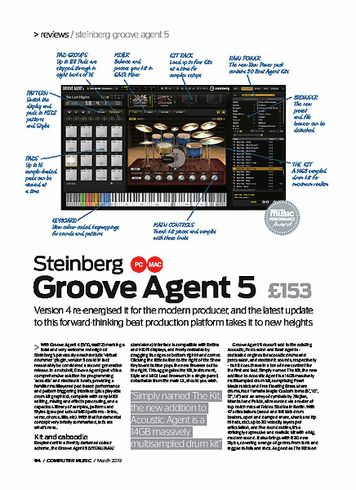 Computer Music Steinberg Groove Agent 5