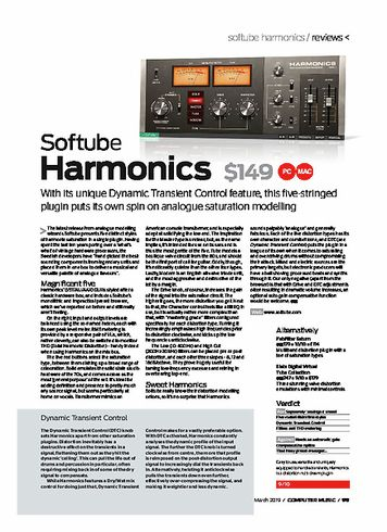 Computer Music Softube Harmonics