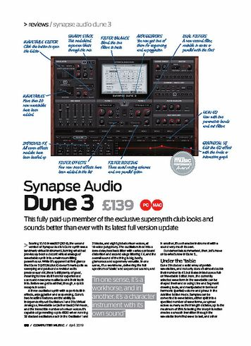 Computer Music Synapse Audio Dune 3