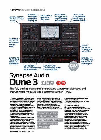 Computer Music Synapse Audio Dune 3