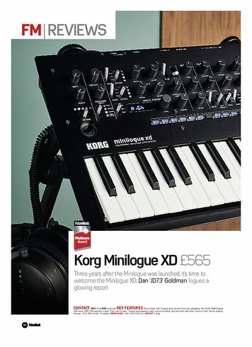Future Music Korg Minilogue XD