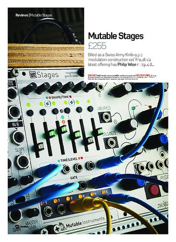 Future Music Mutable Stages