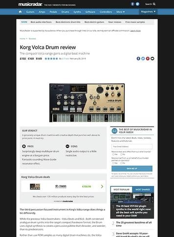 MusicRadar.com Korg Volca Drum