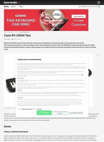 Bonedo.de Casio PX-S3000