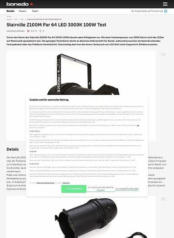 Bonedo.de Stairville Z100M Par 64 LED 3000K 100W