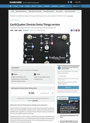 MusicRadar.com EarthQuaker Devices Swiss Things