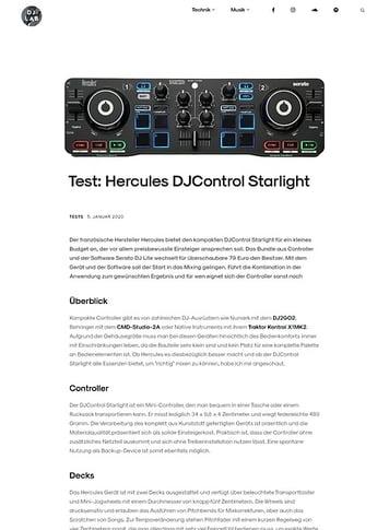 DJLAB Hercules DJControl Starlight