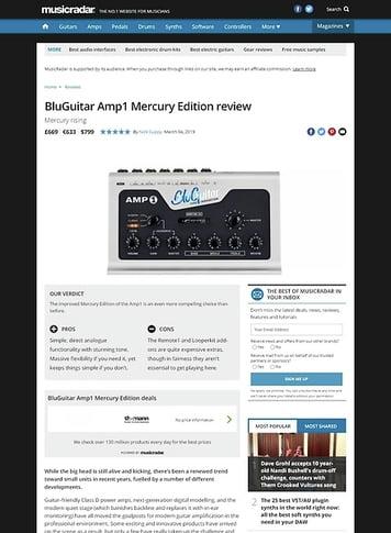 MusicRadar.com BluGuitar Amp1 Mercury Edition
