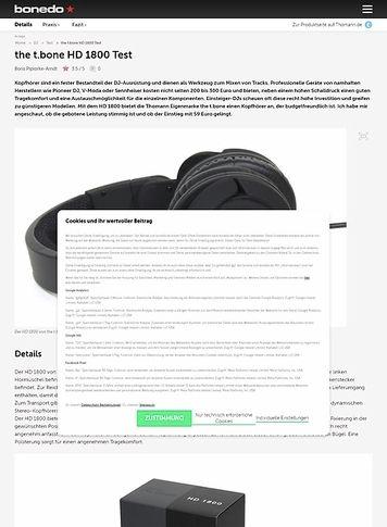 Bonedo.de the t.bone HD 1800 Test